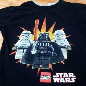 Star Wars Legos Tee Black Darth Vader Stormtrooper